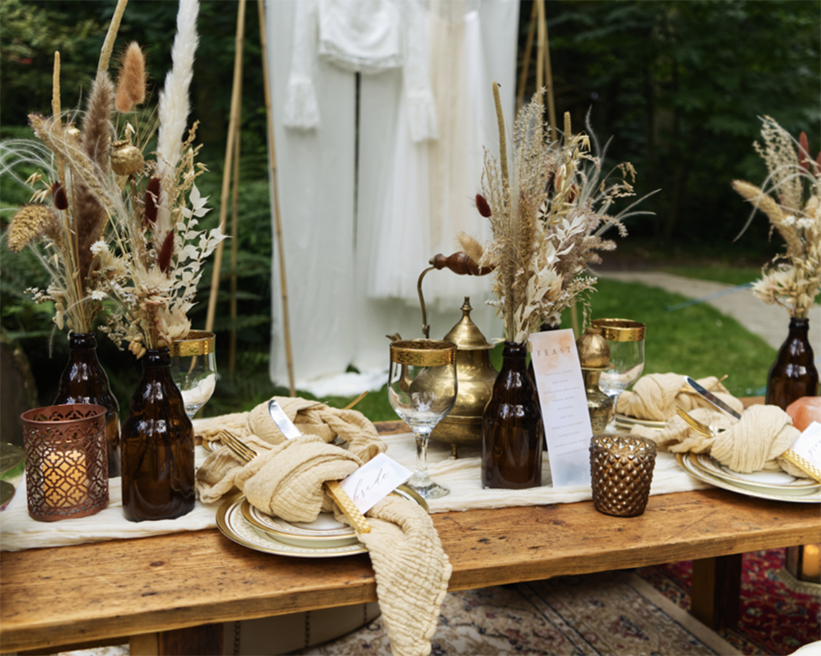 Centros de mesa temáticos para tu boda